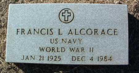 ALCORACE, FRANCIS L. - Yavapai County, Arizona   FRANCIS L. ALCORACE - Arizona Gravestone Photos