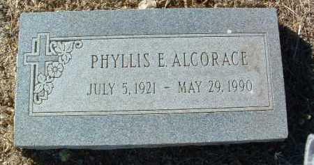 ALCORACE, PHYLLIS E. - Yavapai County, Arizona | PHYLLIS E. ALCORACE - Arizona Gravestone Photos