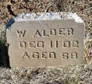 ALDER, W. - Yavapai County, Arizona   W. ALDER - Arizona Gravestone Photos