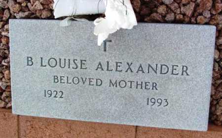 HOAG ALEXANDER, B. LOUISE - Yavapai County, Arizona | B. LOUISE HOAG ALEXANDER - Arizona Gravestone Photos