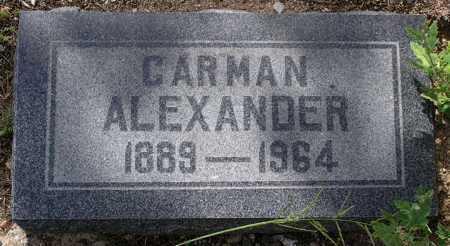 ALEXANDER, CARMAN E. - Yavapai County, Arizona | CARMAN E. ALEXANDER - Arizona Gravestone Photos