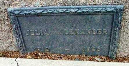 ALEXANDER, JULIA - Yavapai County, Arizona   JULIA ALEXANDER - Arizona Gravestone Photos
