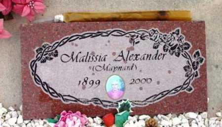 ALEXANDER, MALISSIA - Yavapai County, Arizona   MALISSIA ALEXANDER - Arizona Gravestone Photos
