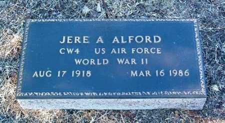 ALFORD, JERE ARTHUR (BUDDY) - Yavapai County, Arizona | JERE ARTHUR (BUDDY) ALFORD - Arizona Gravestone Photos