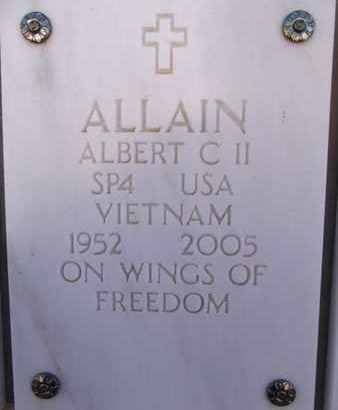 ALLAIN, ALBERT CHARLES - Yavapai County, Arizona | ALBERT CHARLES ALLAIN - Arizona Gravestone Photos