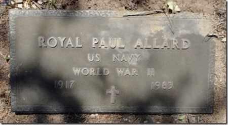 ALLARD, ROYAL PAUL - Yavapai County, Arizona   ROYAL PAUL ALLARD - Arizona Gravestone Photos