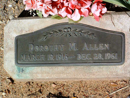 ALLEN, DOROTHY M. - Yavapai County, Arizona   DOROTHY M. ALLEN - Arizona Gravestone Photos