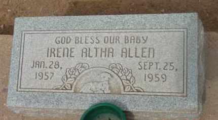 ALLEN, IRENE ALTHA - Yavapai County, Arizona | IRENE ALTHA ALLEN - Arizona Gravestone Photos