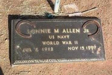 ALLEN, LONNIE MONROE, JR. - Yavapai County, Arizona | LONNIE MONROE, JR. ALLEN - Arizona Gravestone Photos