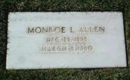 ALLEN, MONROE L. - Yavapai County, Arizona | MONROE L. ALLEN - Arizona Gravestone Photos
