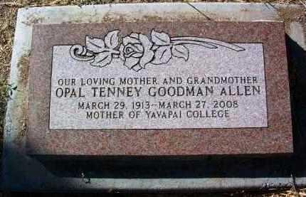 ALLEN, OPAL - Yavapai County, Arizona | OPAL ALLEN - Arizona Gravestone Photos