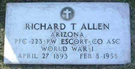 ALLEN, RICHARD THOMAS - Yavapai County, Arizona   RICHARD THOMAS ALLEN - Arizona Gravestone Photos