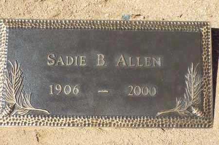 ALLEN, SADIE B. - Yavapai County, Arizona | SADIE B. ALLEN - Arizona Gravestone Photos