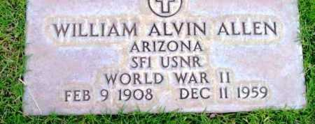 ALLEN, WILLIAM ALVIN - Yavapai County, Arizona | WILLIAM ALVIN ALLEN - Arizona Gravestone Photos