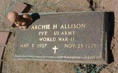 ALLISON, ARCHIE HARRY - Yavapai County, Arizona   ARCHIE HARRY ALLISON - Arizona Gravestone Photos