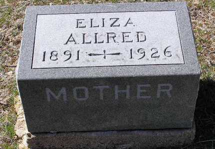 ALLRED, ELIZA - Yavapai County, Arizona | ELIZA ALLRED - Arizona Gravestone Photos