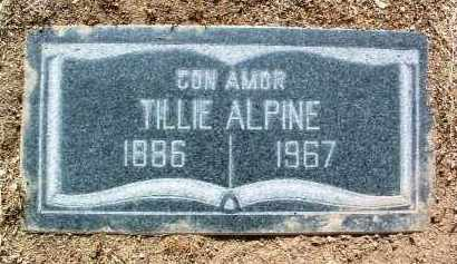 ALPINE, MATILDA (TILLIE) - Yavapai County, Arizona | MATILDA (TILLIE) ALPINE - Arizona Gravestone Photos