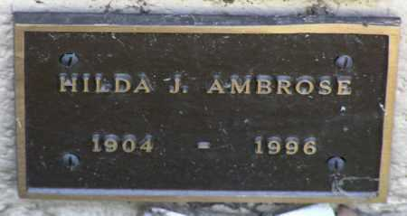 JOHNSON AMBROSE, HILDA J. - Yavapai County, Arizona | HILDA J. JOHNSON AMBROSE - Arizona Gravestone Photos