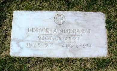ANDERSEN, LESLIE - Yavapai County, Arizona | LESLIE ANDERSEN - Arizona Gravestone Photos