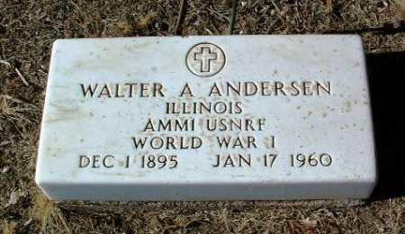 ANDERSEN, WALTER A. - Yavapai County, Arizona | WALTER A. ANDERSEN - Arizona Gravestone Photos