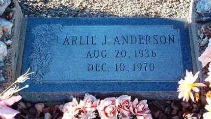 ANDERSON, ARLIE J. - Yavapai County, Arizona   ARLIE J. ANDERSON - Arizona Gravestone Photos