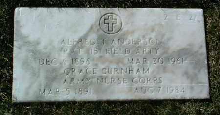 ANDERSON, ALFRED T. - Yavapai County, Arizona | ALFRED T. ANDERSON - Arizona Gravestone Photos