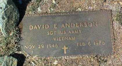 ANDERSON, DAVID EDWARD - Yavapai County, Arizona | DAVID EDWARD ANDERSON - Arizona Gravestone Photos