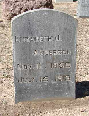 BROCKMAN ANDERSON, ELIZABETH JANE - Yavapai County, Arizona | ELIZABETH JANE BROCKMAN ANDERSON - Arizona Gravestone Photos