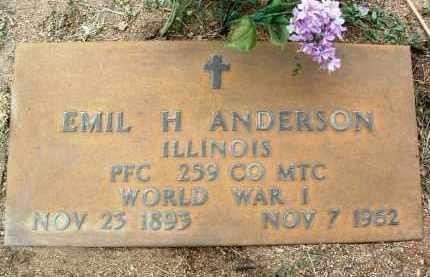 ANDERSON, EMIL HERMAN - Yavapai County, Arizona   EMIL HERMAN ANDERSON - Arizona Gravestone Photos
