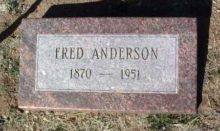 ANDERSON, ANDRO FRED - Yavapai County, Arizona   ANDRO FRED ANDERSON - Arizona Gravestone Photos