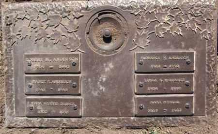 ANDERSON, FLORENCE W. - Yavapai County, Arizona | FLORENCE W. ANDERSON - Arizona Gravestone Photos