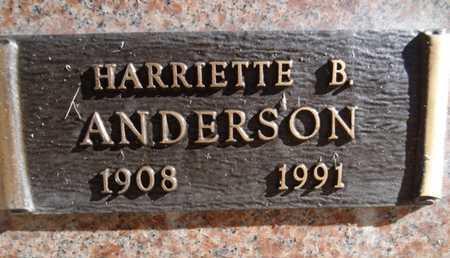 ANDERSON, HARRIETTE B. - Yavapai County, Arizona   HARRIETTE B. ANDERSON - Arizona Gravestone Photos
