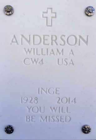 ANDERSON, INGE - Yavapai County, Arizona | INGE ANDERSON - Arizona Gravestone Photos