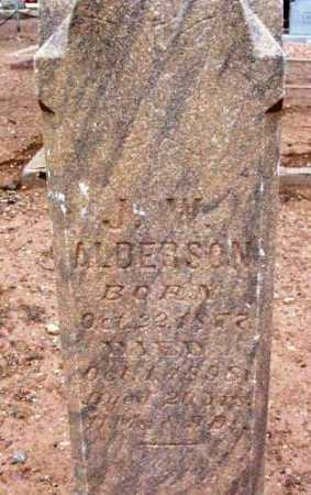 ANDERSON, J. W. - Yavapai County, Arizona | J. W. ANDERSON - Arizona Gravestone Photos