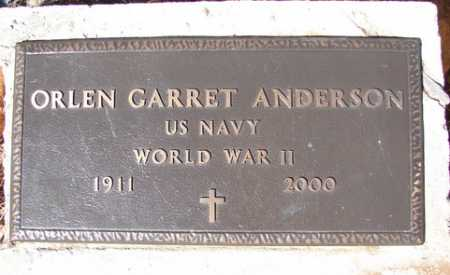 ANDERSON, ORLEN GARRET - Yavapai County, Arizona   ORLEN GARRET ANDERSON - Arizona Gravestone Photos