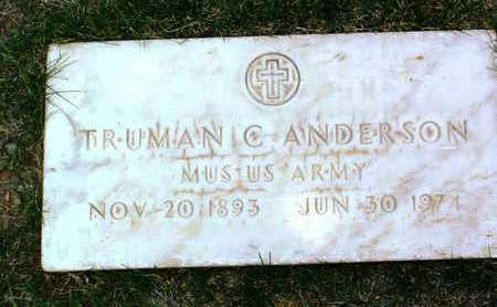 ANDERSON, TRUMAN C. - Yavapai County, Arizona   TRUMAN C. ANDERSON - Arizona Gravestone Photos