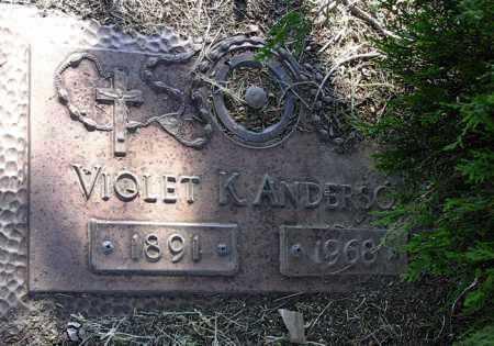 ANDERSON, VIOLET K - Yavapai County, Arizona | VIOLET K ANDERSON - Arizona Gravestone Photos