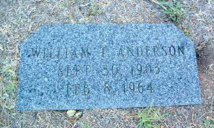 ANDERSON, WILLIAM T. - Yavapai County, Arizona | WILLIAM T. ANDERSON - Arizona Gravestone Photos
