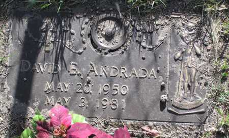 ANDRADA, DAVID EDWARD - Yavapai County, Arizona | DAVID EDWARD ANDRADA - Arizona Gravestone Photos