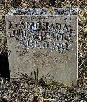 AMDRADA, F. - Yavapai County, Arizona   F. AMDRADA - Arizona Gravestone Photos