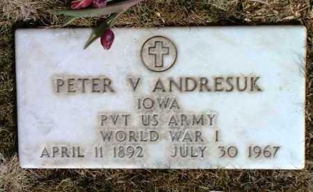 ANDRESUK, PETER V. - Yavapai County, Arizona | PETER V. ANDRESUK - Arizona Gravestone Photos