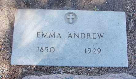 ANDREW, EMMA - Yavapai County, Arizona | EMMA ANDREW - Arizona Gravestone Photos