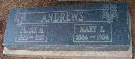ANDREWS, FRANK MOON - Yavapai County, Arizona | FRANK MOON ANDREWS - Arizona Gravestone Photos