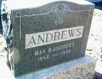 ANDREWS, MAY BELLE - Yavapai County, Arizona   MAY BELLE ANDREWS - Arizona Gravestone Photos