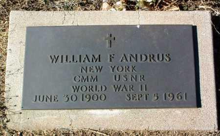 ANDRUS, WILLIAM F. - Yavapai County, Arizona | WILLIAM F. ANDRUS - Arizona Gravestone Photos