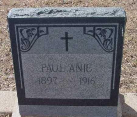 ANIC, PAUL - Yavapai County, Arizona | PAUL ANIC - Arizona Gravestone Photos