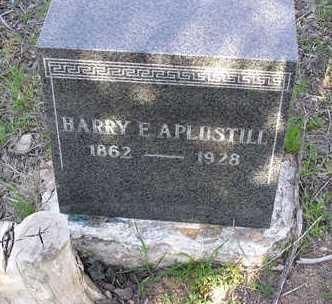 APLUSTILL, HARRY EDWARD - Yavapai County, Arizona   HARRY EDWARD APLUSTILL - Arizona Gravestone Photos