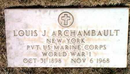 ARCHAMBAULT, LOUIS J. - Yavapai County, Arizona   LOUIS J. ARCHAMBAULT - Arizona Gravestone Photos