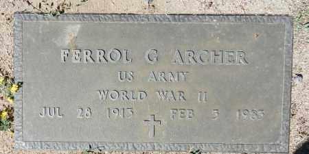 ARCHER, FERROL G. - Yavapai County, Arizona | FERROL G. ARCHER - Arizona Gravestone Photos