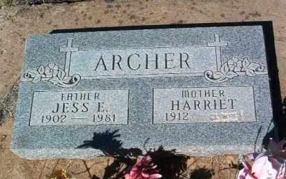 ARCHER, JESS ELMER - Yavapai County, Arizona | JESS ELMER ARCHER - Arizona Gravestone Photos